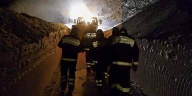 Rescuers make their way to the Hotel Rigopiano in the town of Farindola on the Gran Sasso mountain in the central Abruzzo region of Italy which was buried by an avalanche. Photo / Facebook