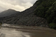 Slip on SH73 between Jackson and Otira. Photo / NZTA
