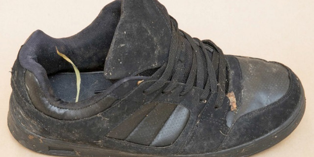 Police are trying to identify the owners of several clothing items, including this shoe. Photo / NZ Police