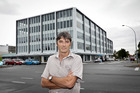 OFFICE BLOCK: Adam Yates, the chief executive of Manor Group outside the 306 Cameron Rd building. Photo / Andrew Warner
