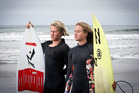 TALENTED SIBLINGS: Jonas, left, and Elin Tawharu performed well at the National Surfing Championships held at Piha. PHOTO: ANDREW WARNER
