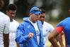 LEGEND RETURNS: Samoan head coach Sir Gordon Tietjens at Blake Park yesterday. PHOTO/JOHN BORREN