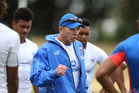 LEGEND RETURNS: Samoan head coach Sir Gordon Tietjens at Blake Park yesterday. PHOTO/JOHN BORREN