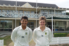 MATCH WINNERS: Whanganui cricketers Akash Gill (left) and Connor O'Leary led the charge in CD's win over Canterbury at the national under-17 tournament at Bert Sutcliffe Oval in Christchurch.