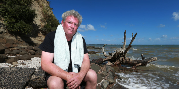 Green Bay resident David Kenkel who is disappointed about water pollution at his local beach.Photo / Doug Sherring