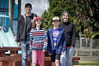 BACK TO SCHOOL: (L_R) Cheyne Hosking, Elaina Hosking, 10, Andrew Hosking, 12, and Catherine Hosking. PHOTO/ANDREW WARNER