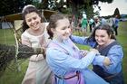 Ella Mae McGowan, 16, Rosamund Goodliffe, 14, and Andrea Goodliffe of Tauranga. Photo/Andrew Warner