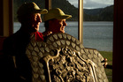 Rotorua's Keith Fraser, 86, (left) poses with the prestigious Dewar Shield and Rotorua Rowing Club chairman Rob Prebble. PHOTO/STEPHEN PARKER