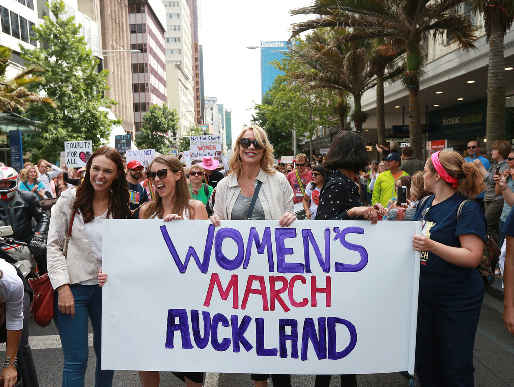 New Zealanders march for women's rights in wake of Donald Trump's inauguration