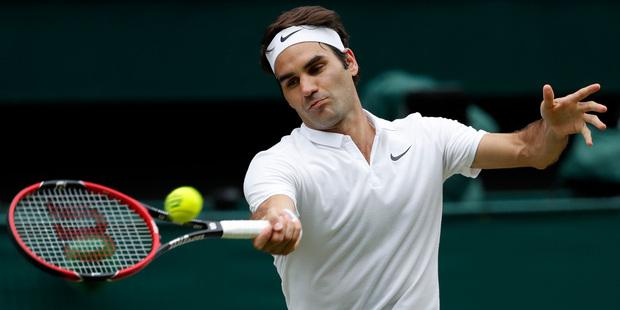 Roger Federer produces wonderful backhand victor against Kei Nishikori