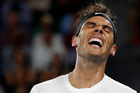 Spain's Rafael Nadal smiles during his second round match against Marcos Baghdatis of Cyprus at the Australian Open tennis championships. Photo / AP.