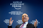 German Klaus Schwab, founder and president of the World Economic Forum. Photo / AP