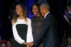 Malia Obama, left, has scored a prestigious internship with acclaimed Hollywood producer Harvey Weinstein. Photo/AP