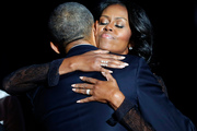 """Barack Obama has said that Michelle """"never really embraced being in the public spotlight"""". Photo / AP"""