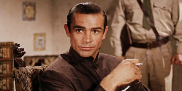 Sean Connery as James Bond in the film Dr No, 1962. Photo / File