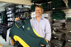 Darell Smith at Andersons in Whanganui, who supply school uniforms. Photo /  Stuart Munro