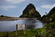 The lagoon on South Piha beach is too contaminated and should not be used for swimming. Photo / Nick Reed