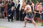 CRINGE-WORTHY: Bill English, then deputy prime minister, accepts an offering at the Te Tii Marae in Paihia on Waitangi Day 2015 - a sight we won't be seeing this year.