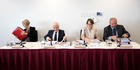 The Commerce Commission's Sue Begg, Mark Berry, Elisabeth Welson and Graham Crombie. Photo / Marty Melville