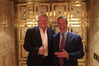 Former UKIP part leader Nigel Farage posted a picture of himself with US President-elect Donald Trump in New York late last year. Photo/file