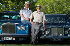 Rotorua Vintage and Veteran Car Club chairman David Tomlinson (left) and Ronald Mayes with their cars, a 1978 Rolls-Royce Silver Shadow II and Vanden-Plas Princess 1100, before last year's annual Rotorua Lakefront Car Show. PHOTO/FILE