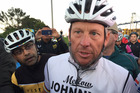 Cycling Legend Lance Armstrong meet with Auckland fans for Ride with Lance at Mechanics Bay on Tuesday morning. Photo / Greg Bowker.
