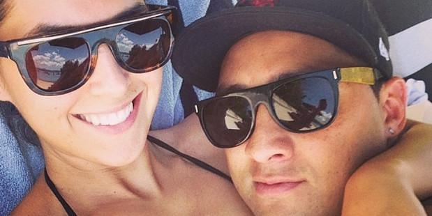 Zoe Marshall and her Kiwi rugby league star Benji. Photo / Zoe Marshall Instagram.