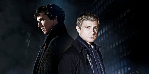 Benedict Cumberbatch and Martin Freeman aren't as close in real life as they are in Sherlock. Photo/Supplied