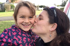 Ariane Wyler and her 6-year-old daughter Que Langdon have returned to New Zealand. Photo / Supplied
