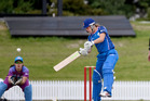 INNOVATIVE: Sam Curtis batting for Sonic against Galaxy in the opening match of the new women's cricket NPL played at Bay Oval last October. PHOTO: FILE