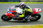 Whakatane's Tony Rees [Honda CBR1000RR], is the new points leader in the Superbike class after intense racing at Teretonga at the weekend. PHOTO/ ANDY MCGECHAN