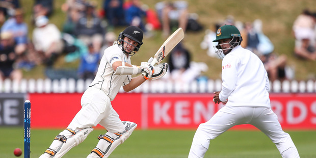 Tom Latham of New Zealand bats during day three of the First Test match between New Zealand and Bangladesh. Photo / Getty Images.