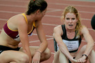 CATCHING UP: Angie Petty (right) finds her breath with Kerry White, of Te Aroha club, post-800m Sylvia Potts Classic victory in Hastings on Saturday. PHOTO/Warren Buckland