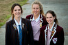 Top scholars from left, Bronte Spierings of Iona College, Woodford House students Eva Goodisson (centre) and Hannah Stone were relieved to receive their NCEA results yesterday. Photo Warren Buckland