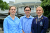 Nicola Shepherd and Lachie Calder, Taradale High School, and  Rebecca Newman, Napier Girls High, were mong the top achievers from the Bay in NCEA. Photo / Warren Buckland