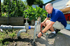 EXPERT: Michael Harris of Harris pumps has had to rebuild a water bore pump in Hastings to get down to the new deeper water table. PHOTO WARREN BUCKLAND