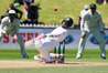 Bangladesh's Mushfiqur Rahim suffered a minor concussion after misreading a shorter delivery, highlighting the need for batsman to hone their short ball technique. Photo/Photosport.nz