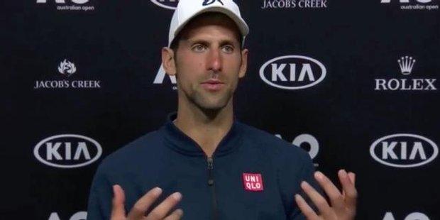 Watch Novak Djokovic all class after shock defeat