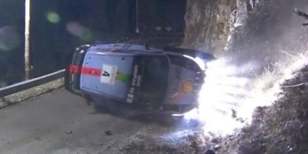 Raw Kiwi rally driver appears to hit spectator in crash