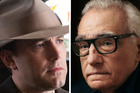 Ben Affleck and Martin Scorsese have not had a good weekend at the box office. Photos/AP