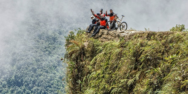 Bolivia's Road of Death treats riders to spectacular views of the Bolivian Amazon rainforest. Photo / Getty Images