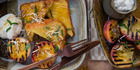 Weekend brunch: Brioche French toast with grilled peaches