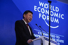 Chinese President Xi Jinping speaks during the opening plenary session of the World Economic Forum (WEF) annual meeting in Davos, Switzerland. Photo / Bloomberg