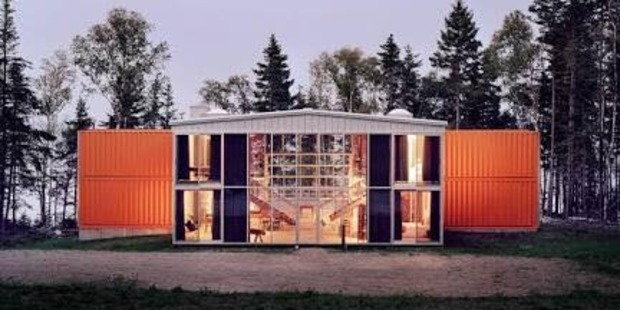 A photo of what the container house will look like when finished. Photo / Facebook