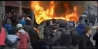 Watch: Watch: Limo set aflame amid Washington protests