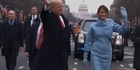 Watch: Watch: Trump family walk during inauguration parade