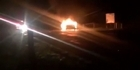 Watch: Raw: Car ablaze after serious crash in Tuakau