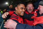 ; Francis Saili of Munster celebrates with supporters. Photo / Getty