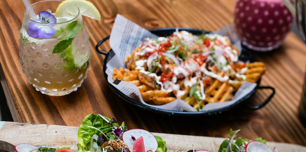 Viva Eating Out: The Kimchi Project on Lorne st. Lettuce cups and waffle fries on the menu. 20 January 2017 New Zealand Herald Photograph by Babiche Martens.