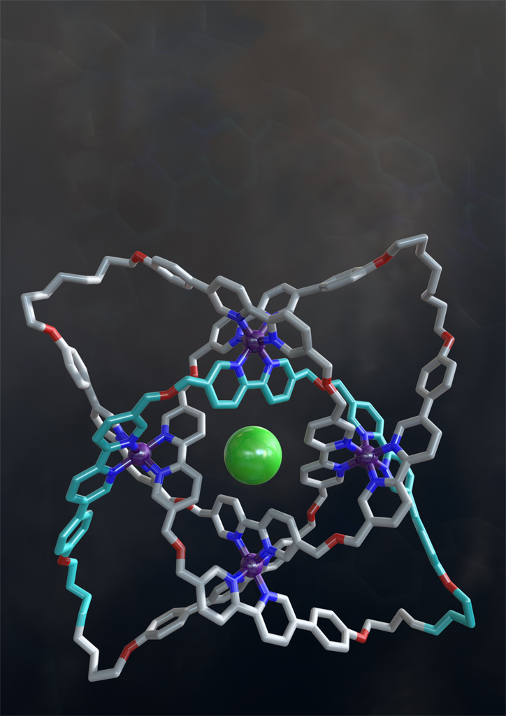 The X-ray crystal structure of a 192-atom-loop molecular knot. Photo / Robert W. McGregor